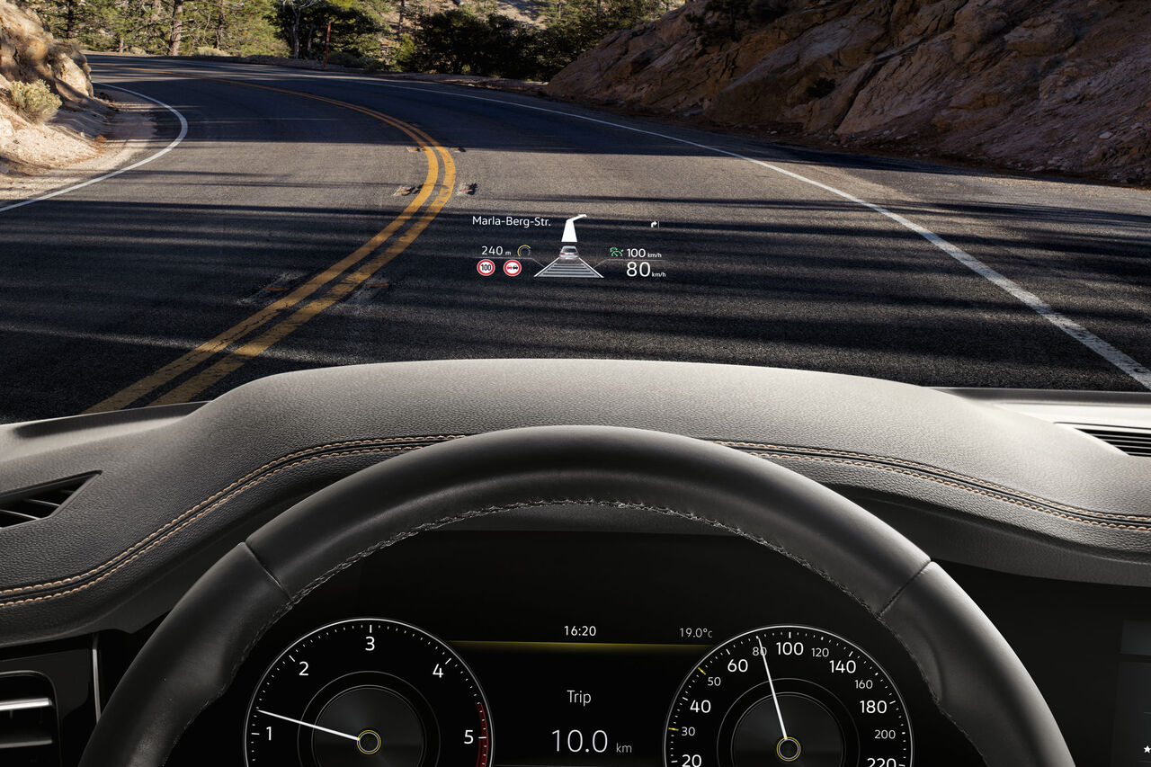 vw touareg head up display